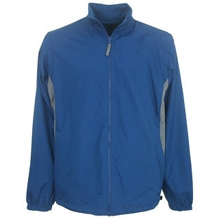 North End Men's Fleece-Lined Reversible Windbreaker Jacket with Zip-Off Sleeves