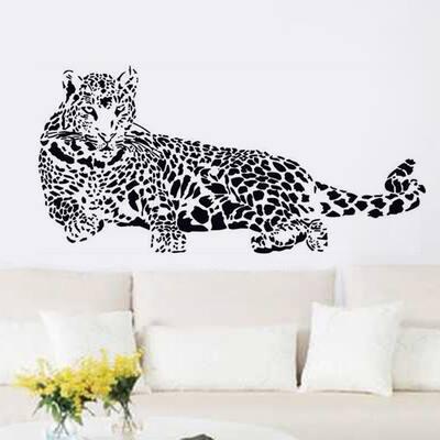 Walplus Wall Sticker Decal Black Leopard Minimalistic Home Decor