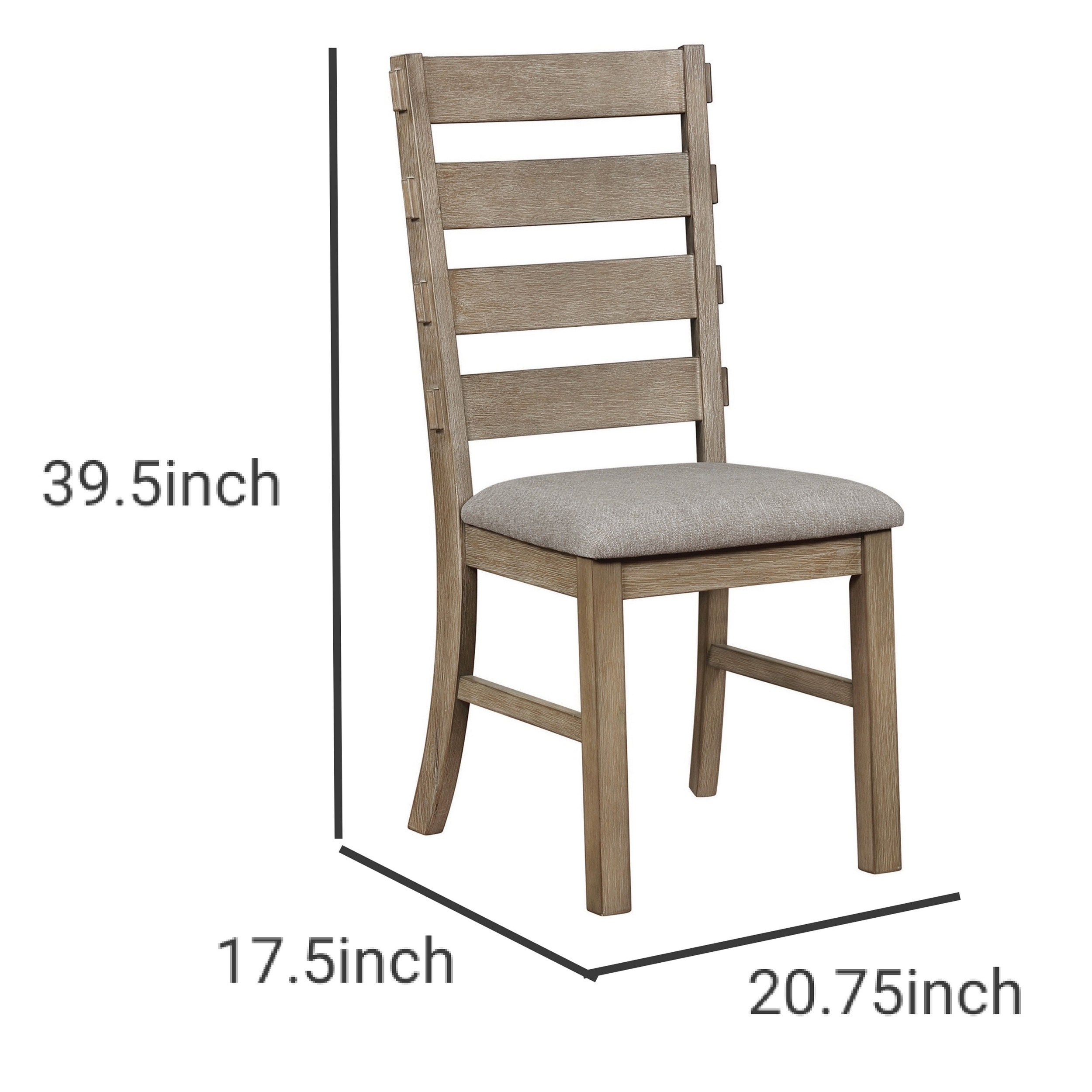 Wooden Ladder Back Dining Chair With Cushion Seat Set Of 2 Distressed Brown Overstock 31959640