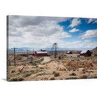 Premium Thick-Wrap Canvas entitled Tonopah Historic Mining Park, Tonopah, Great Basin, Nevada