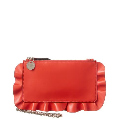 Red Valentino Rock Ruffles Leather Crossbody