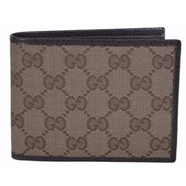 New Gucci Men's 150403 Washed Cotton GG Guccissima Bifold Wallet W/Coin Pocket
