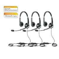 Jabra Voice 550 Duo MS Stereo Corded Headset w/ Noise Reduction System (3 Pack)