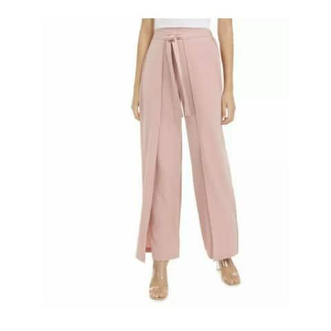 BAR III Womens Pink Tie Wear To Work Pants Size XS