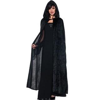Underwraps 55 Hooded Cloak (Black) - Solid