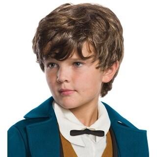 Fantastic Beasts Newt Scamander Child's Costume Wig - Brown