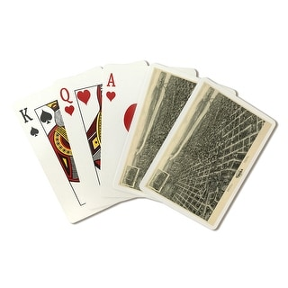 Tulsa, Oklahoma - (1918) - Panoramic Map (Poker Playing Cards Deck)