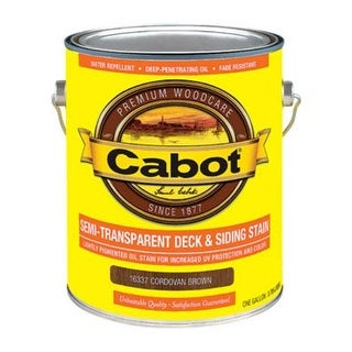 Cabot 01-16337 Semi Transparent Deck & Siding Stain
