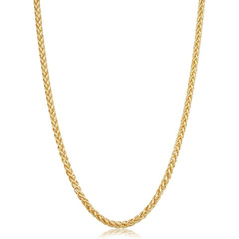 Solid 14k Yellow Gold Filled 4 millimeter Franco Necklace for Men and Women