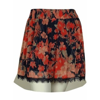 INC International Concepts Women's Multicolor Pattern Print Elastic Waist Skirt - Floral