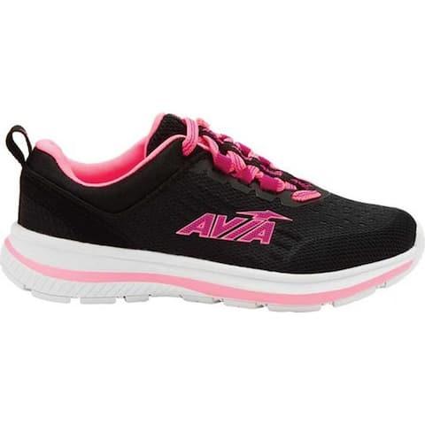 Avia Girls' Avi-Factor Sneaker Black/Coral Punch/Magenta Punch