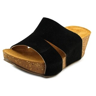 Napa Flex Toni Open Toe Suede Wedge Sandal (Option: 4)