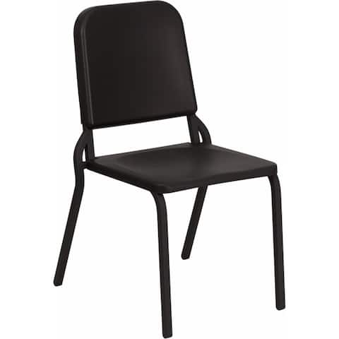 Offex Black High Density Stackable Melody Band/Music Chair - Seat Height: 17.5''H.