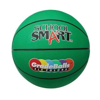 School Smart 28-1/2 in Gradeball Rubber Women's Basketball, Green