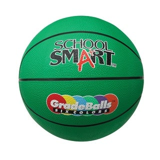 School Smart 29-1/2 in Gradeball Rubber Men's Basketball, Green