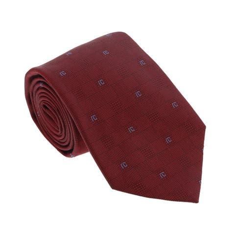 Roberto Cavalli ESZ016 02000 Red Micro Geometric Tie - 3-58