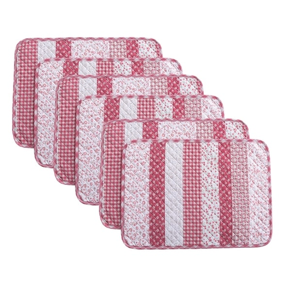 Country Living Stripe 6-Piece Placemat Set - 13x19. Opens flyout.