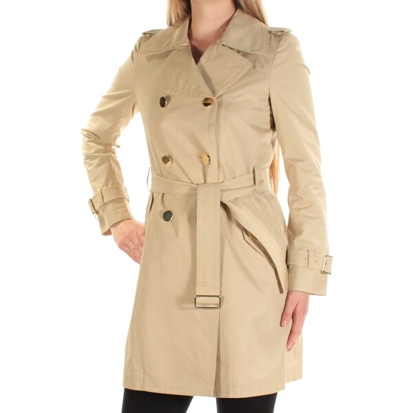 0efb4960b17 Shop MAXMARA Womens Beige Trench Coat Size  6 - Free Shipping Today -  Overstock - 22426541