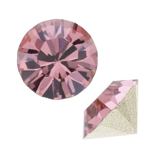 Swarovski Elements Crystal, 1028 Xilion Round Stone Chatons pp10, 50 Pieces, Crystal Antique Pink
