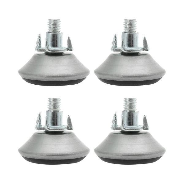M8 x 18 x 40mm Screw on Furniture Glide Leveling Feet Thread Adjustable Leveler with T-nuts for Cabinet Leg 4pcs