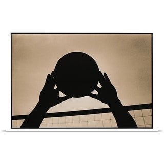 Poster Print entitled Volleyball Silhouette