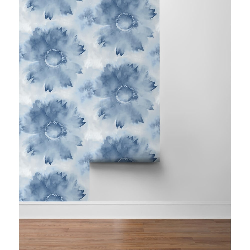 Solvang%2C Watercolor Sunflower 18%27 x 20.5%22 Peel %26 Stick Wallpaper Roll