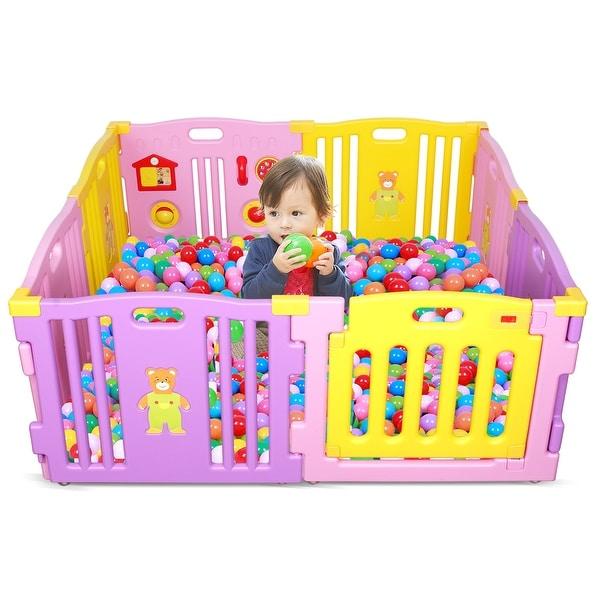 Baby Playpen Kids 8 Panel Safety Play Center Yard Home Indoor Outdoor Boys Girls