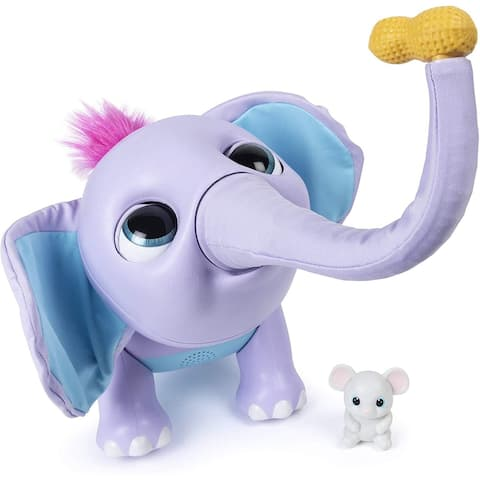 Wildluvs Juno My Baby Elephant with Over 150 Sounds & Movements - Purple