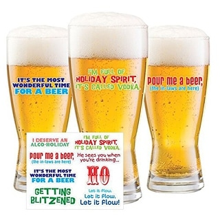 Holiday-isms Drink Decals