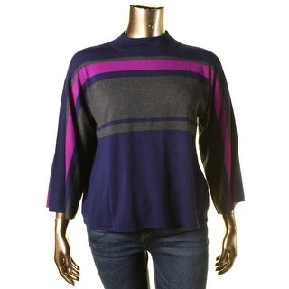 Cable & Gauge Womens Long Sleeves Striped Sweater - XL