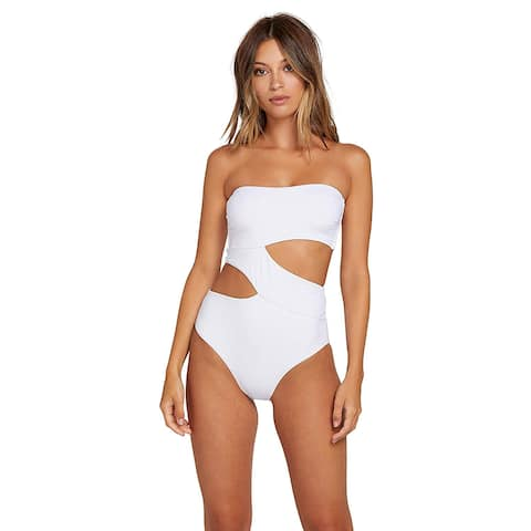 Volcom Junior's Women's Plus Size Simply Seamless One Piece, White, Size Large