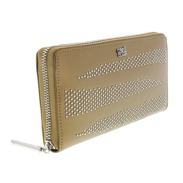 Class Roberto Cavalli Gold Zebra Show 192 Long Wallet - 7.5- 4-0