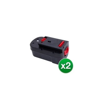 Replacement Battery For Black & Decker GCO18SFB Power Tools - HPB18 (1500mAh, 18v, NiCD) - 2 Pack