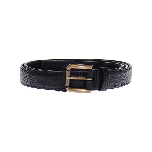 Dolce & Gabbana Dolce & Gabbana Black Leather Logo Belt