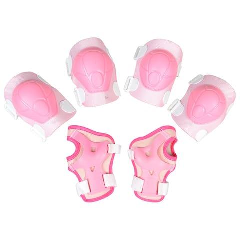 Unique Bargains Adjustable Sport Joint Support Gear Wrist Guard Elbow Knee Pad Set Kids