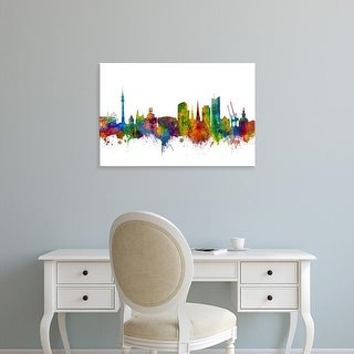 Easy Art Prints Michael Tompsett's 'Dortmund Germany Skyline' Premium Canvas Art