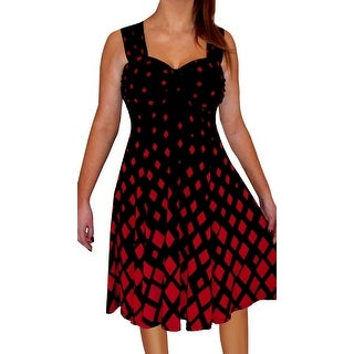 Funfash Plus Size Women Red Black A Line Cocktail Dress Made in USA