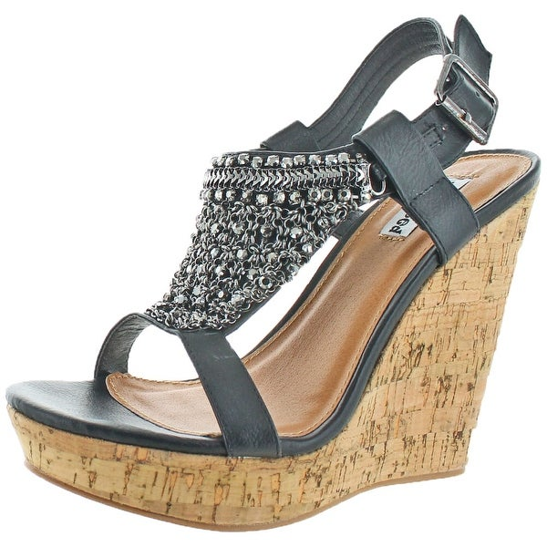 Not Rated Tourmaline Women's Embellished Wedge Sandal