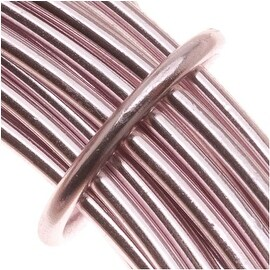 Aluminum Craft Wire Rose Pink 12 Gauge 39 Feet (11.8 Meters)