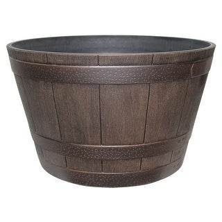 """Southern Patio HDR-007197 HDR Whiskey Barrel Planter, 15.5"""""""