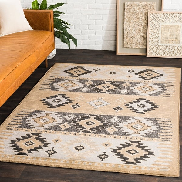 Copper Grove Mike Southwestern Aztec Black Area Rug. Opens flyout.