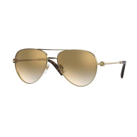 Valentino VA2034 30026E 57 Gold Woman Pilot Sunglasses