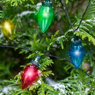 Link to Solar Multi-Colored LED Christmas Bulb String Lights Similar Items in String Lights