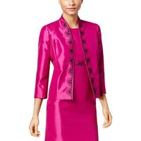 Kasper Pink Women's Size 14 Fly Away Embroidered Blazer Jacket