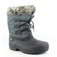 Tundra Womens Dot Grey/Black Snow Boots Size 8