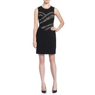 Diane von Furstenberg Marcia Stretch Jersey Dress Animal Print Womens Sheath 4