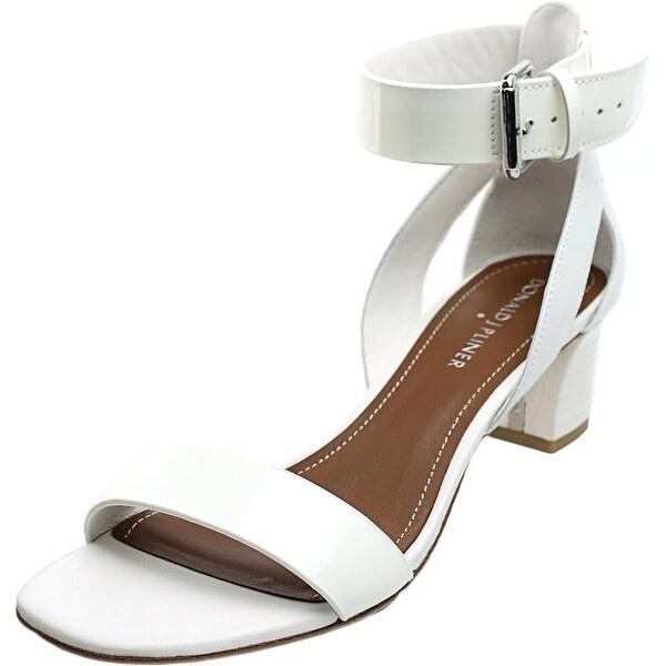 Donald J Pliner Farah Women White/White Patent/Calf Sandals