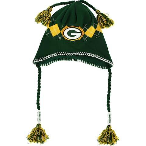 Green Bay Packers Tassle-Gyle Knit Cap - Multi