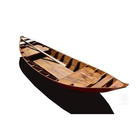 Small South East Asia Sampan Boat Red Bottom Thuyen Ba La Tam Ban