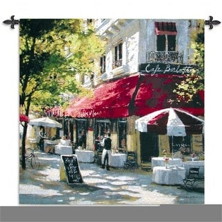 FineArtTapestries 1495-WH Cafe Francette Wall Tapestry